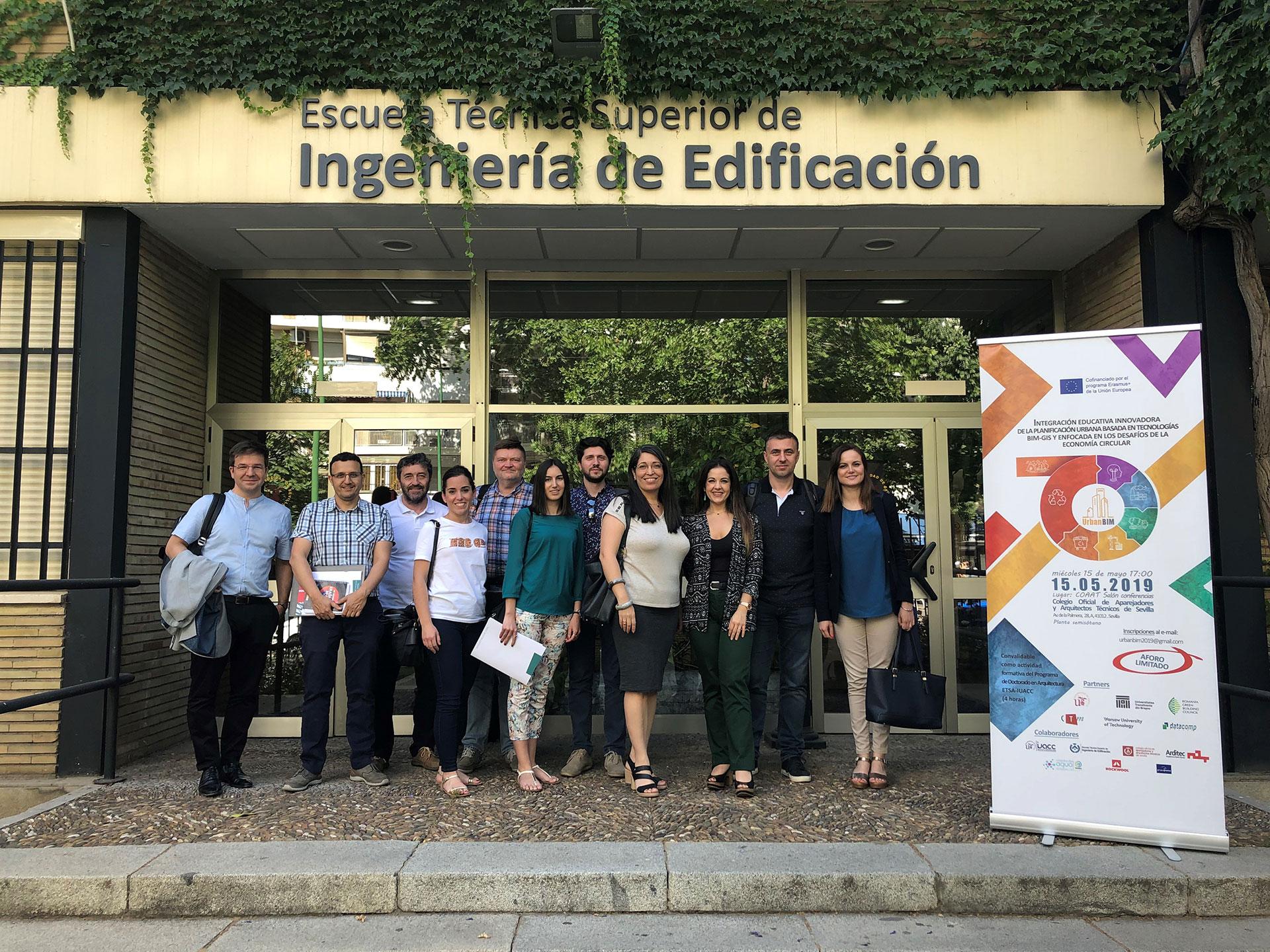 Segunda reunión internacional del Proyecto europeo UrbanBIM en Sevilla