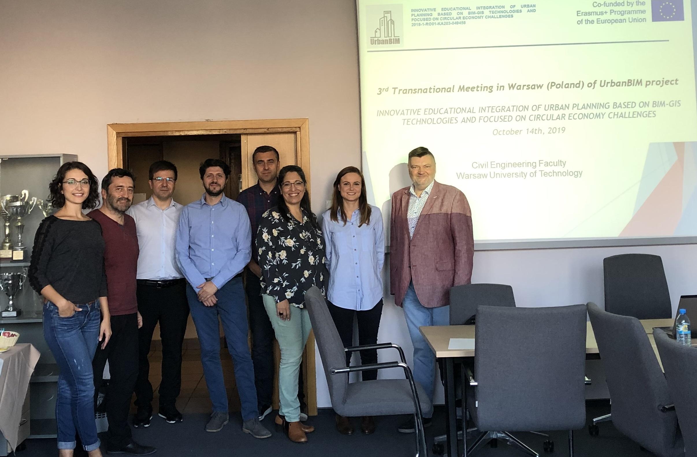 Tercera reunión internacional del Proyecto europeo UrbanBIM en Varsovia