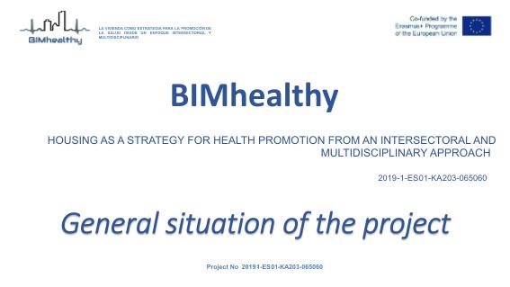 Reunión técnica online del proyecto europeo BIMhealthy