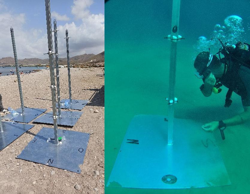 El CTMarmol inició el estudio de hidrodinámica del proyecto CORAL 3D en la Reserva Marina de Cabo Tiñoso para determinar la ubicación del arrecife artificial