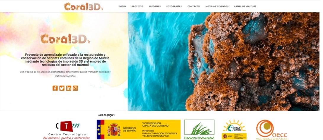 Ya puede visitarse la página web del proyecto CORAL3D que está ejecutando el CTM en la Reserva Marina de Cabo Tiñoso