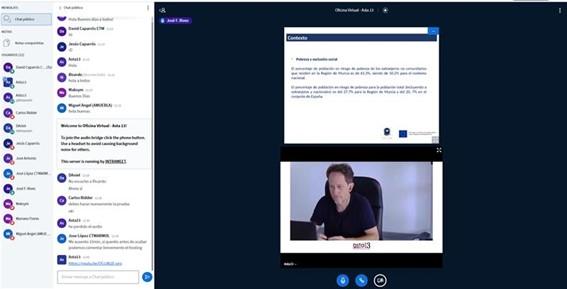 El proyecto eMurcia continúa avanzando con el desarrollo de sus salas virtuales