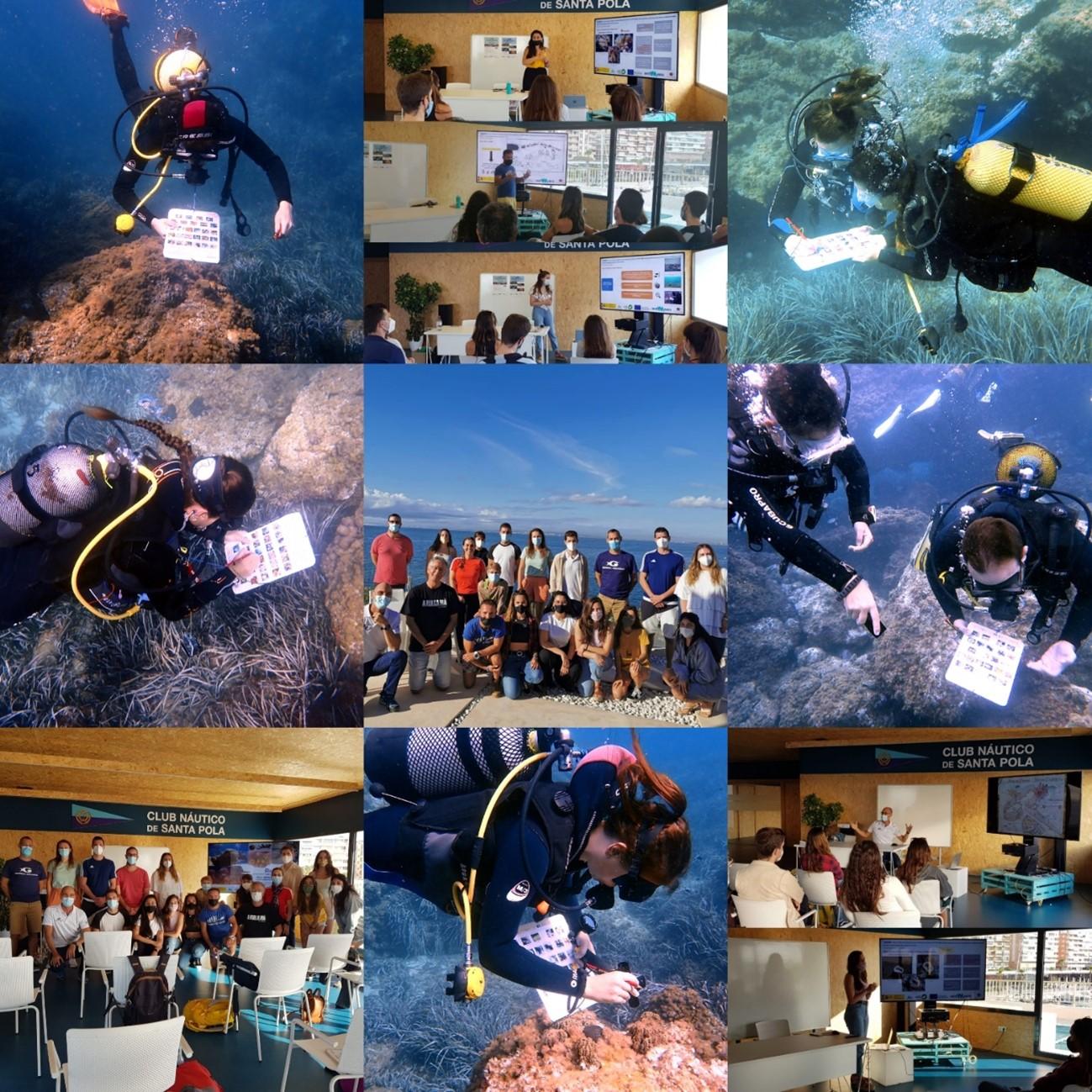El CTM finaliza una formación presencial del proyecto ReReef (clase teórica e inmersiones de buceo) en Santa Pola (Alicante)